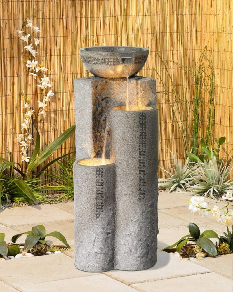 Faux marble indoor outdoor fountain
