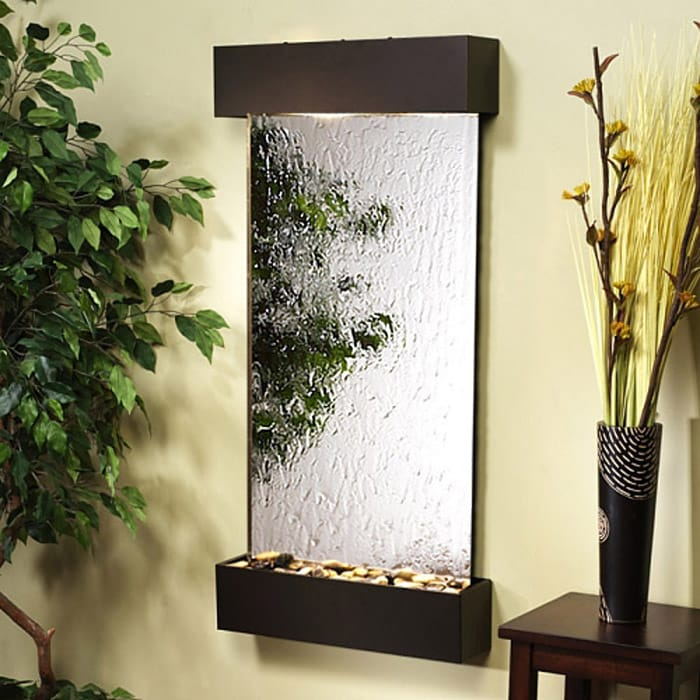 Indoor fountain silver mirror with aluminum frame