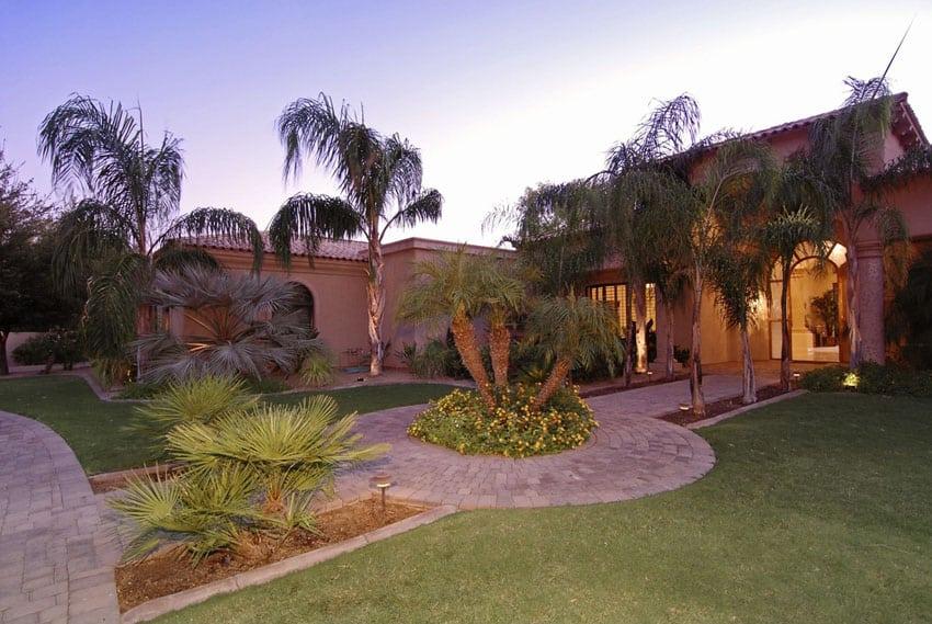 Outdoor walkway at luxury home