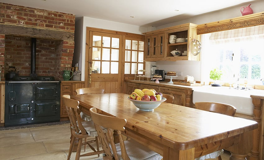 Rustic wood country kitchen