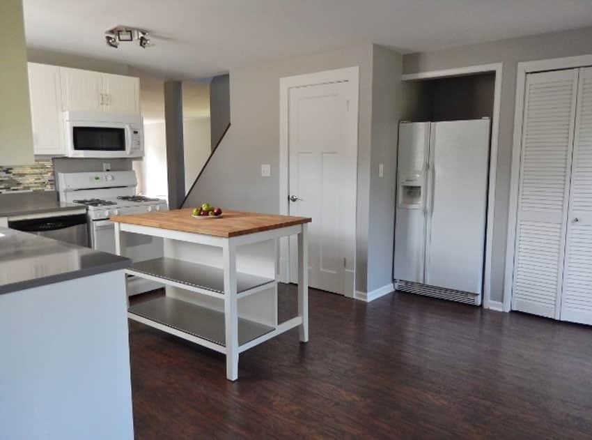 Small wood table kitchen island