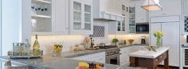traditional-u-shaped-kitchen-with-small-island-with-carrara-marble-countertop