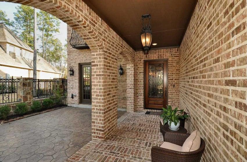 25 brick patio design ideas designing idea for Brick wall patio designs