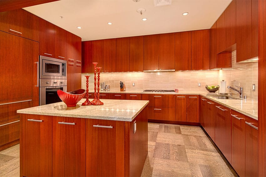 23 Cherry Wood Kitchens Cabinet Designs & Ideas