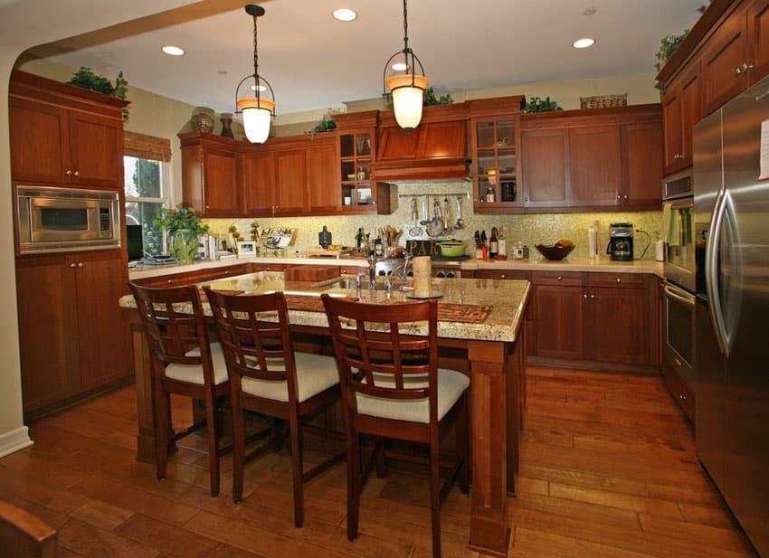 23 Cherry Wood Kitchens Cabinet Designs Ideas