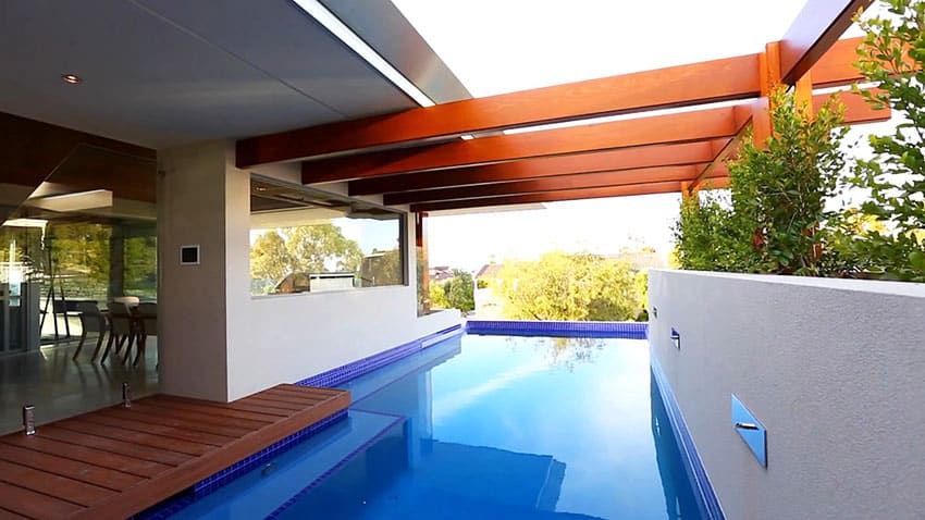 Swimming pool at modern house