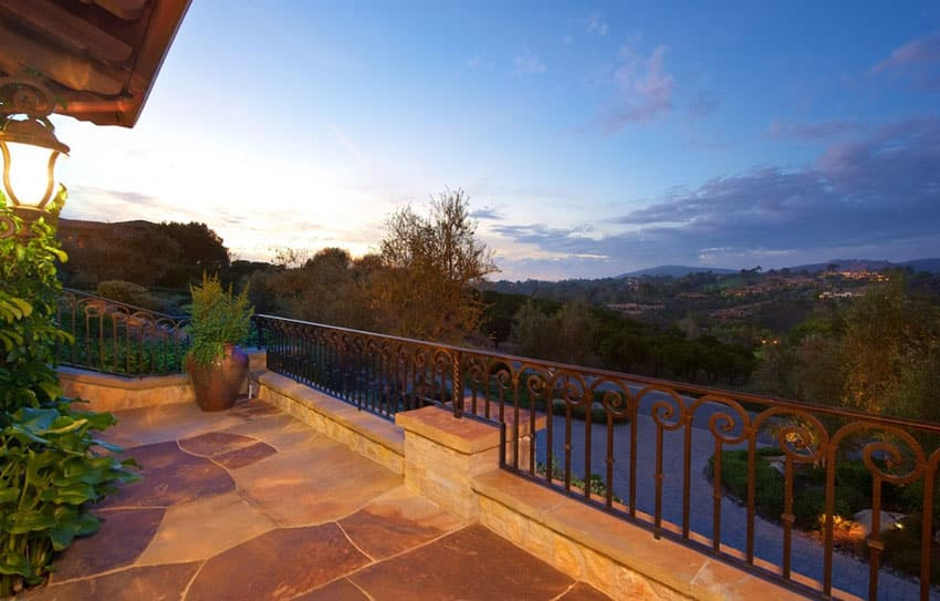 Balcony at Tuscan style home