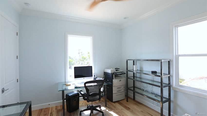 Beach house home office