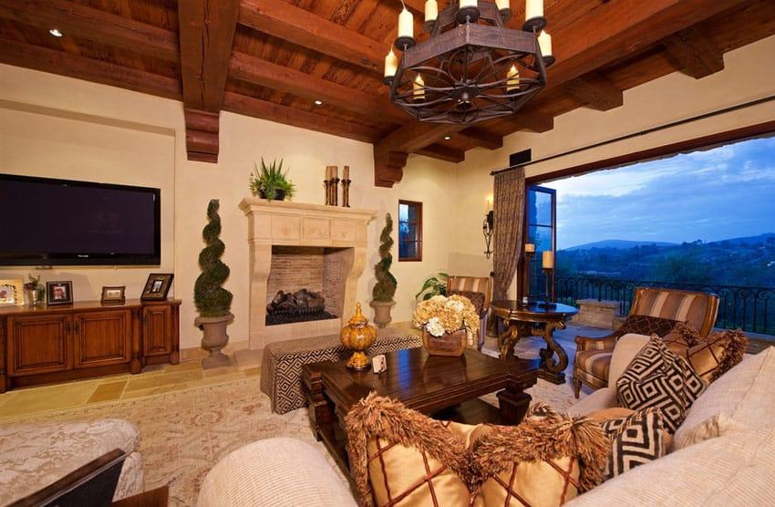 Beautiful living room at Italian home