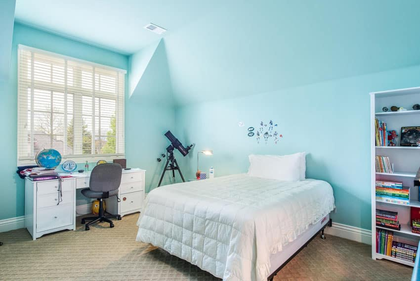 Childs bedroom painted blue