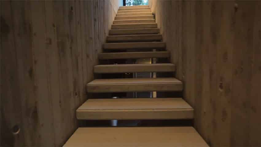 Concrete steps in modern home