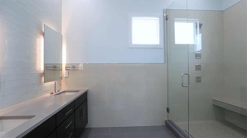 Contemporary bathroom at beach house