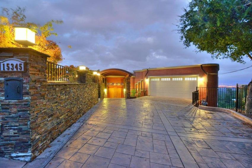 Modern driveways design ideas designing idea for Luxury stone home designs
