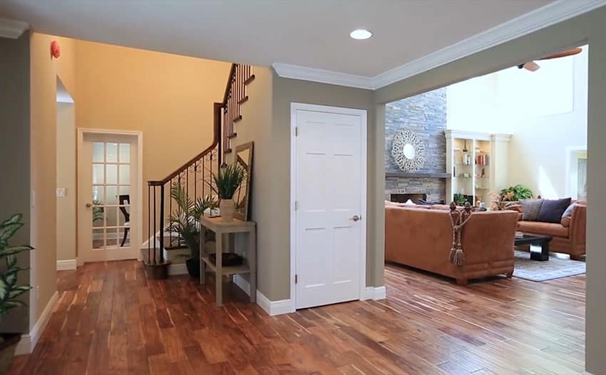 Entryway of home leading to living room