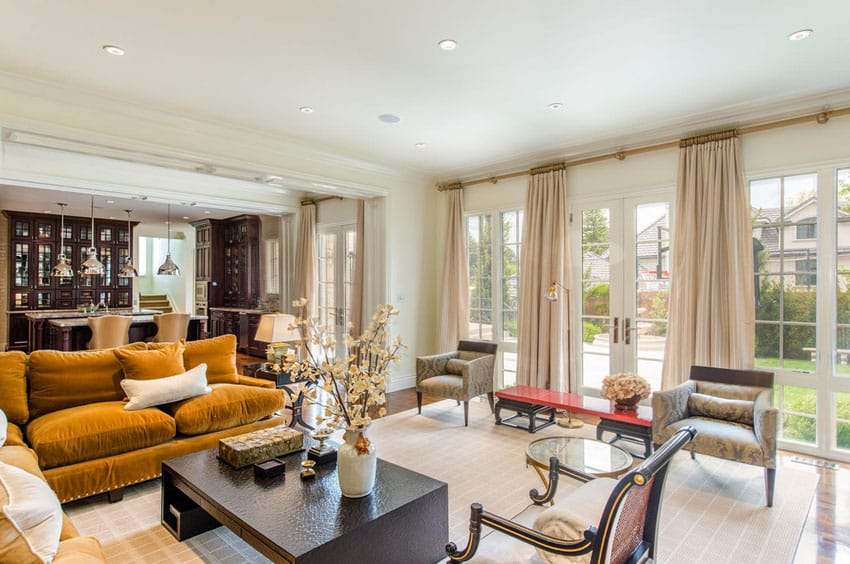 French provincial open concept living space design