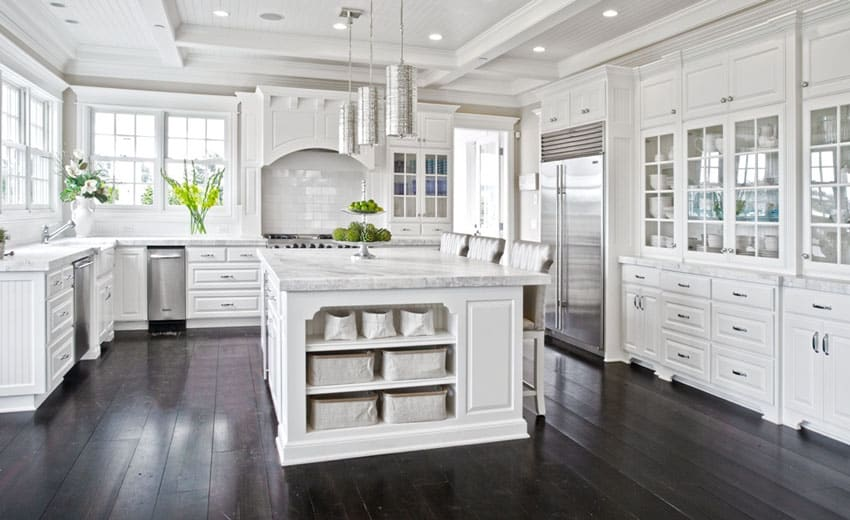 37 luxurious kitchens with white cabinets designing idea for White or dark kitchen cabinets