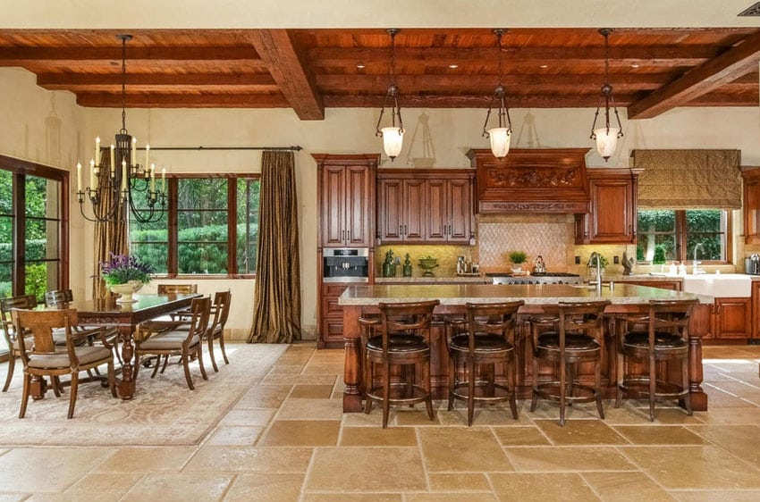 Gourmet kitchen with Italian style open concept