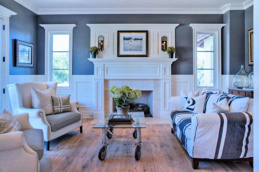 39 Beautiful Living Rooms With Hardwood Floors Designing