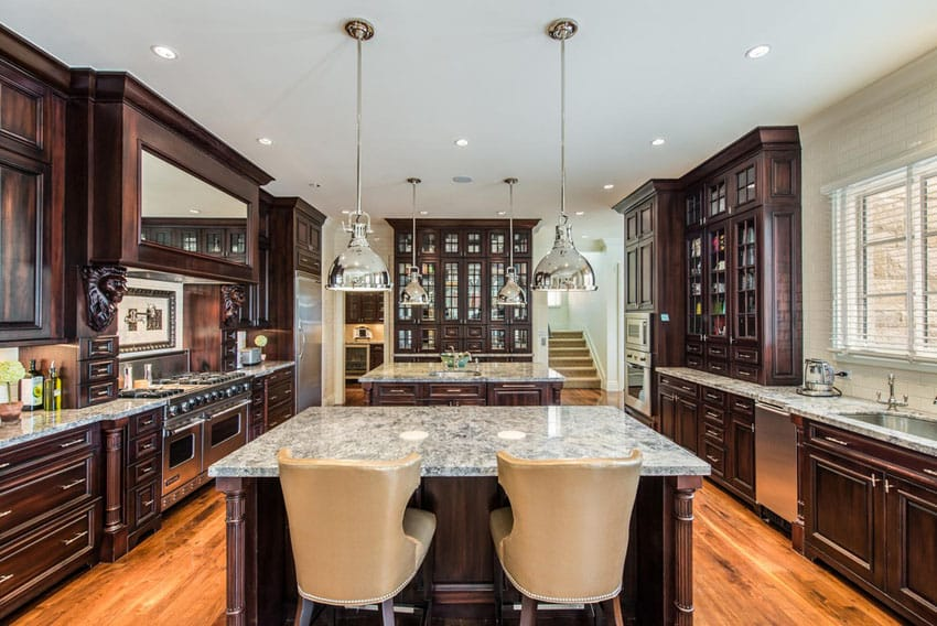 Luxury custom kitchen with 2 islands