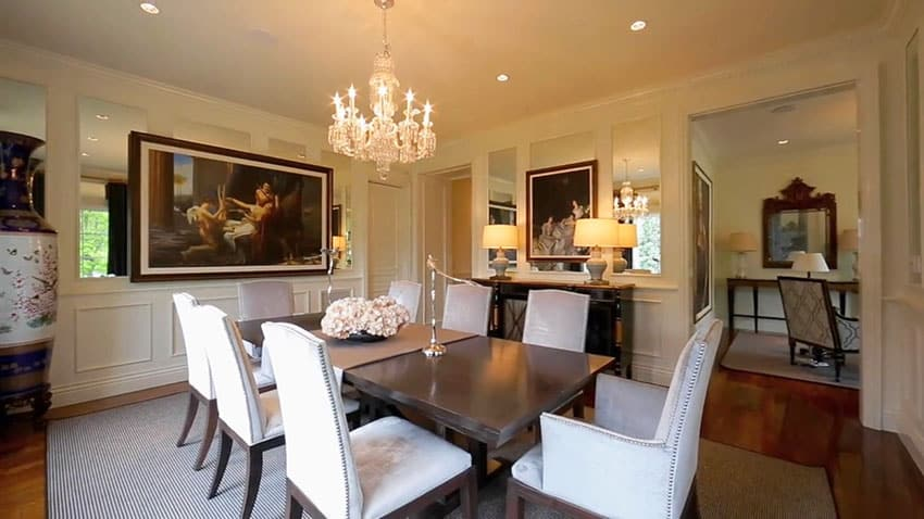 Luxury dining room in french provincial house