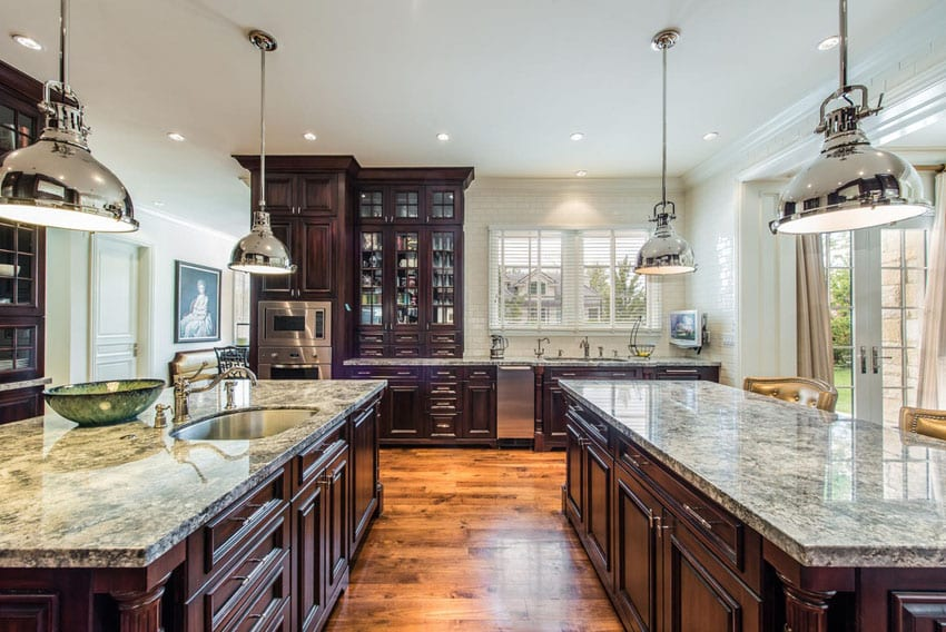 Luxury kitchen at French provincial home
