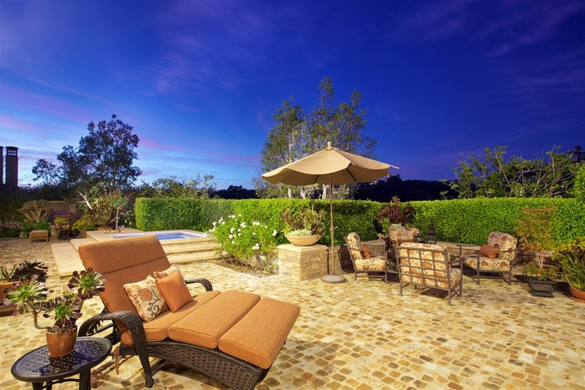 Luxury patio with outdoor furniture