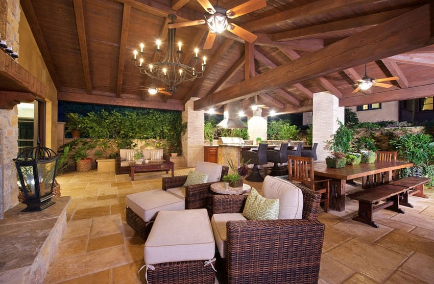 Outdoor patio at Italian style house