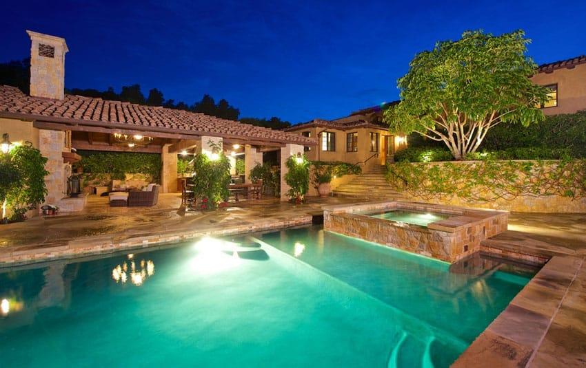 Swimming pool at Tuscan estate home
