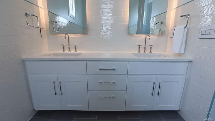 White bathroom in beach house