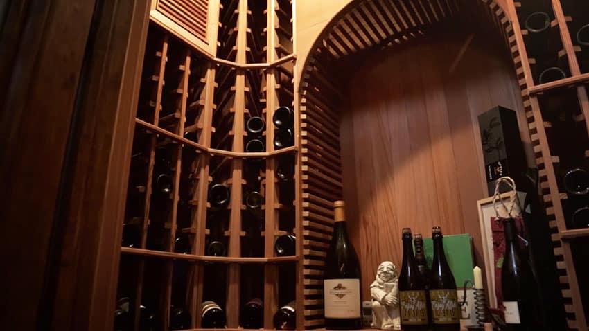 Wine cellar at Tuscan house