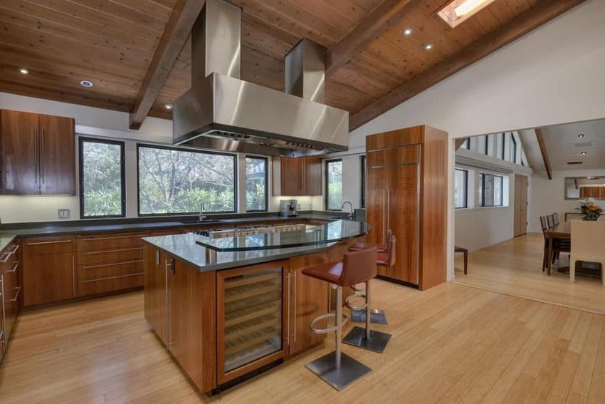 Contemporary craftsman kitchen with concrete countertops