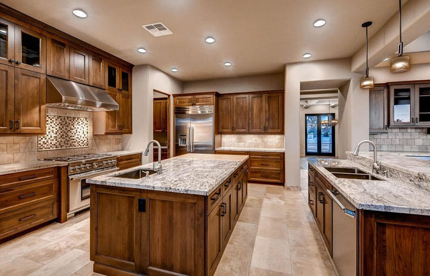 Contemporary craftsman kitchen with large island and breakfast bar
