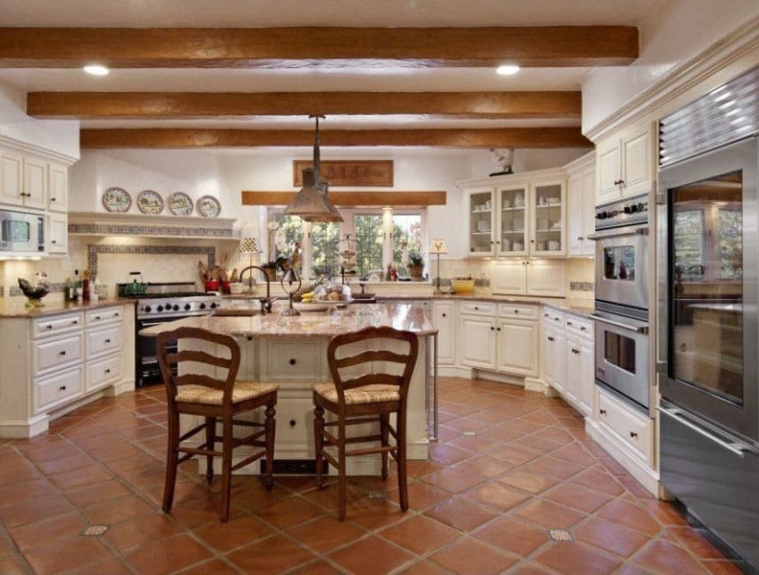 23 beautiful spanish style kitchens design ideas - Country style kitchen cabinets ...