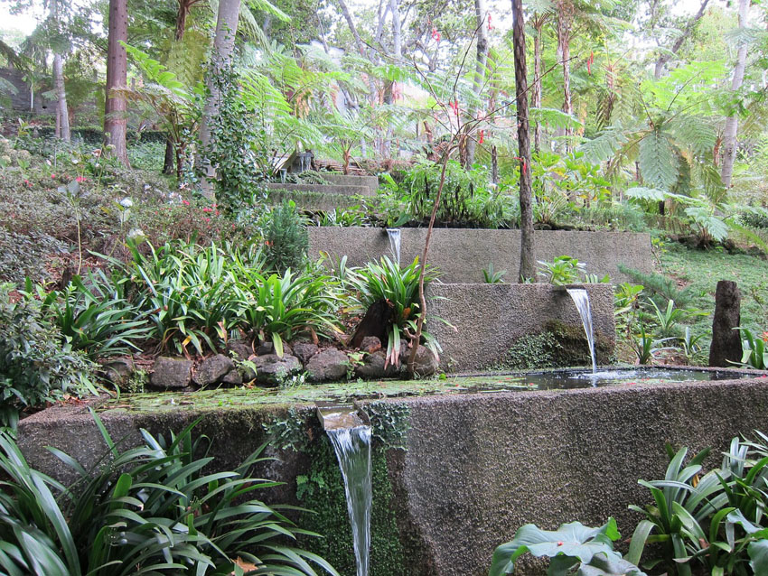 Garden water feature made of concrete