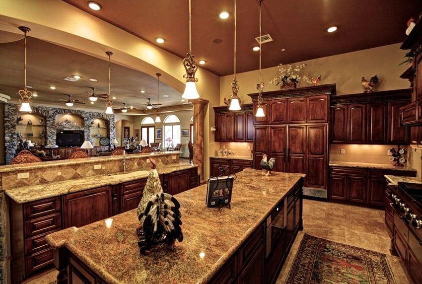 35 luxury mediterranean kitchens design ideas for Luxurious kitchen designs photos