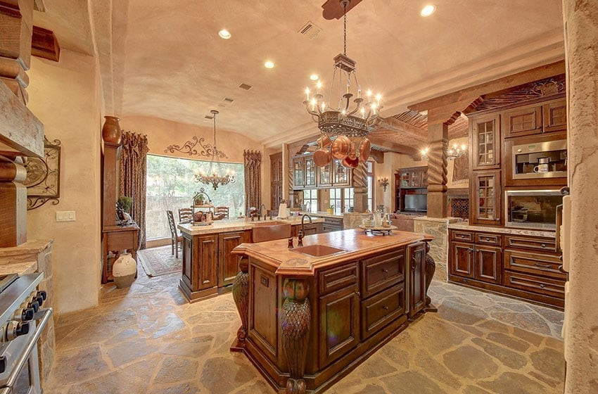 23 beautiful spanish style kitchens design ideas Luxury kitchen flooring
