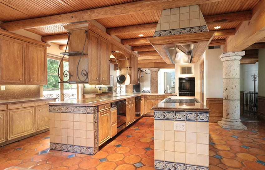 23 beautiful spanish style kitchens design ideas for Floors of the house in spanish