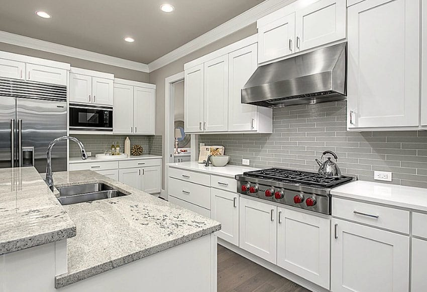 features gray ceramic subway tile backsplash ceramic subway tile