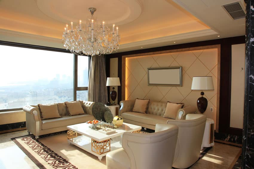 Beautiful formal living room with high end furnishings
