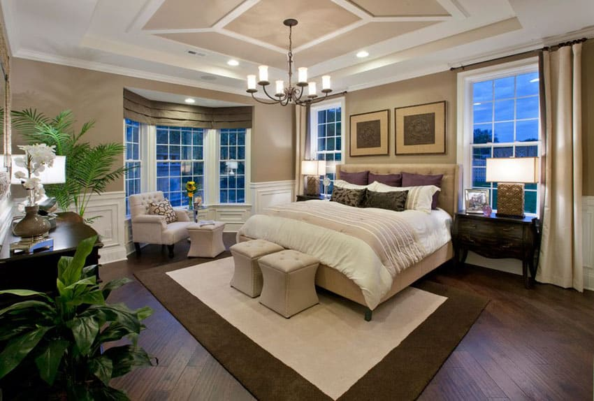 53 elegant luxury bedrooms interior designs designing idea for Master bedroom interior design images