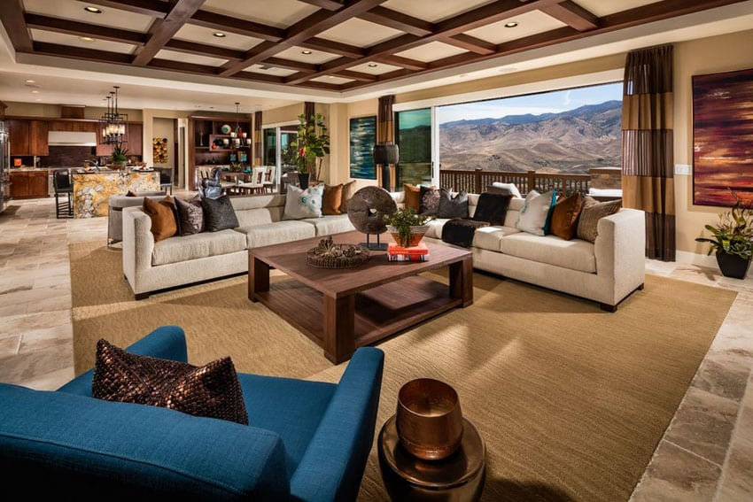 43 beautiful large living room ideas formal casual for Living room designs for big spaces