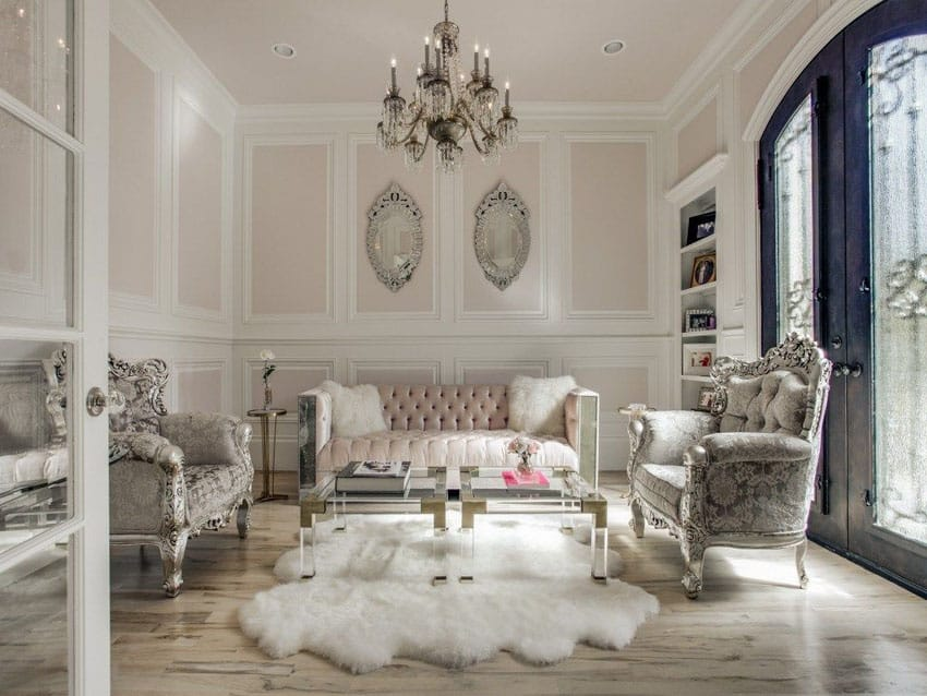 Glamorous living room with luxury decor