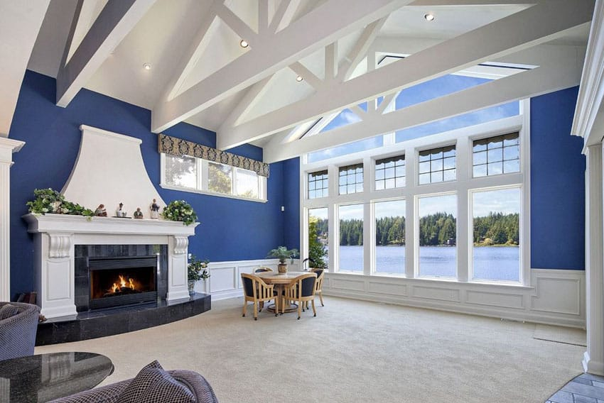Elegant Painted Vaulted Ceiling Ideas Compilation Dream Home