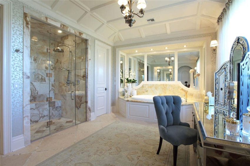 Marble Bathroom Ideas To Create A Luxurious Scheme: 58 Luxury Walk In Showers (Design Ideas)