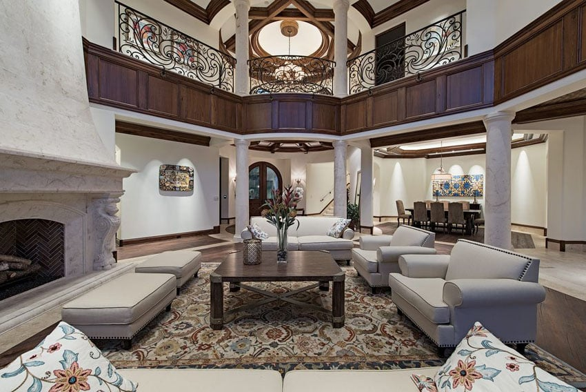 43 beautiful large living room ideas formal casual for Living room balcony design