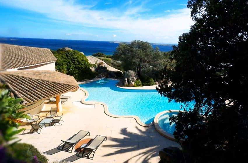 Ocean view pool at french villa