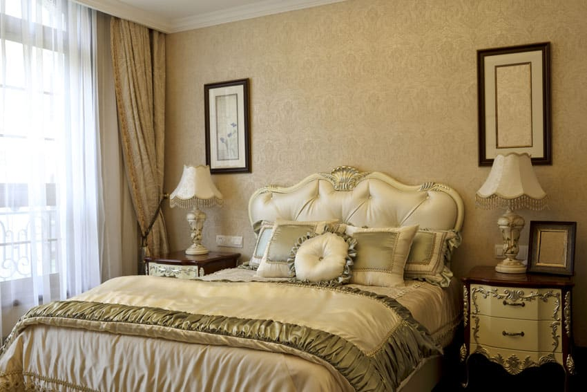 Pretty bedroom with cream color decor