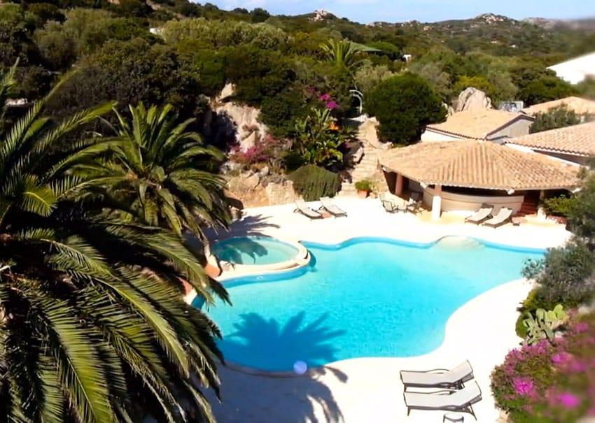 Swimming pool at french villa