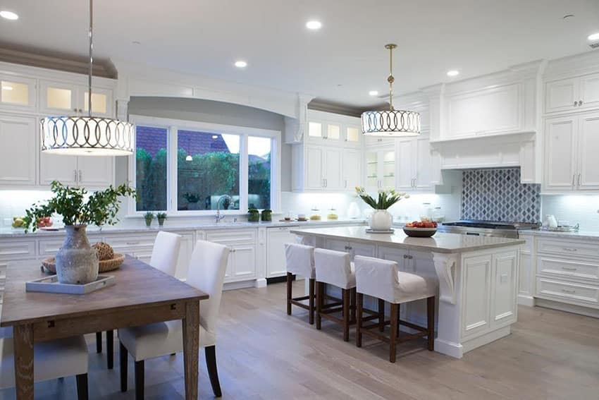 30 beautiful white kitchens design ideas designing idea for Kitchen designs white cabinets wood floors