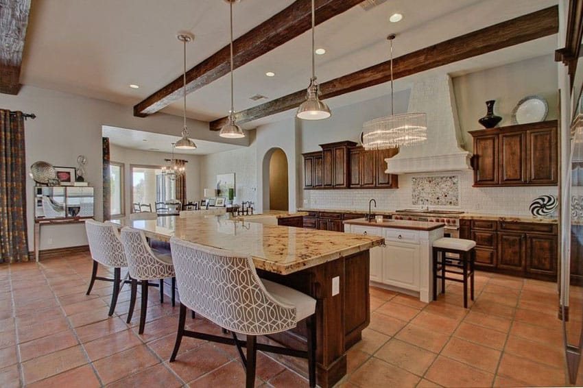 35 large kitchen islands with seating pictures for Craftsman flooring